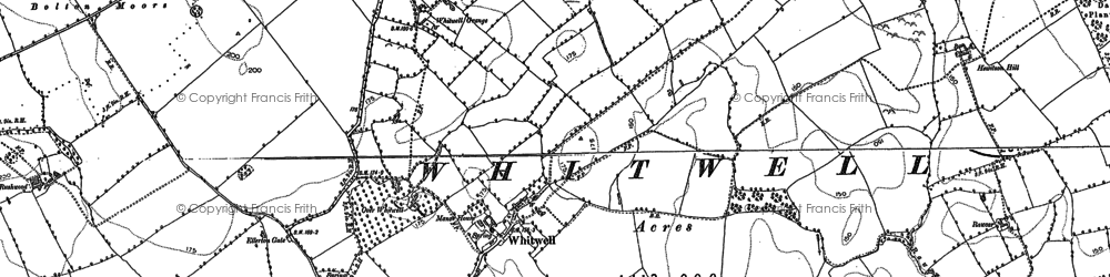 Old map of Whitwell in 1891