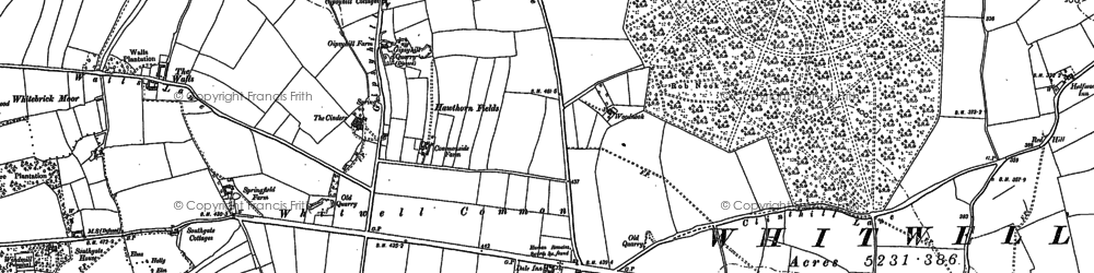 Old map of Whitwell Common in 1897