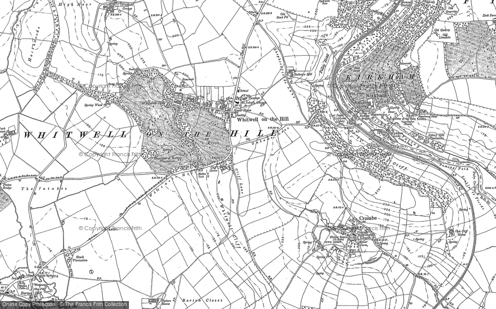 Old Map of Whitwell-on-the-Hill, 1891 in 1891