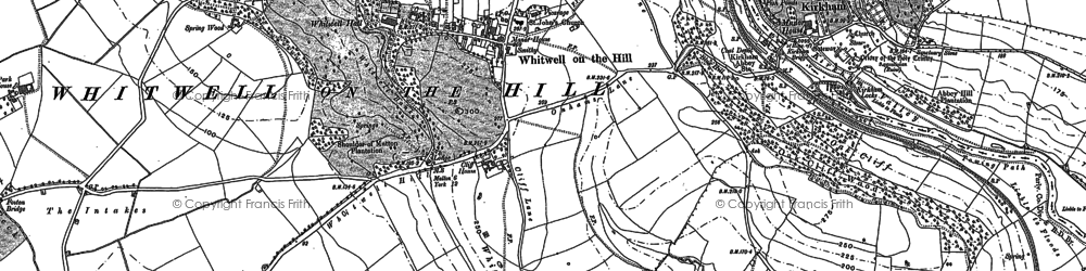 Old map of Whitwell-on-the-Hill in 1891