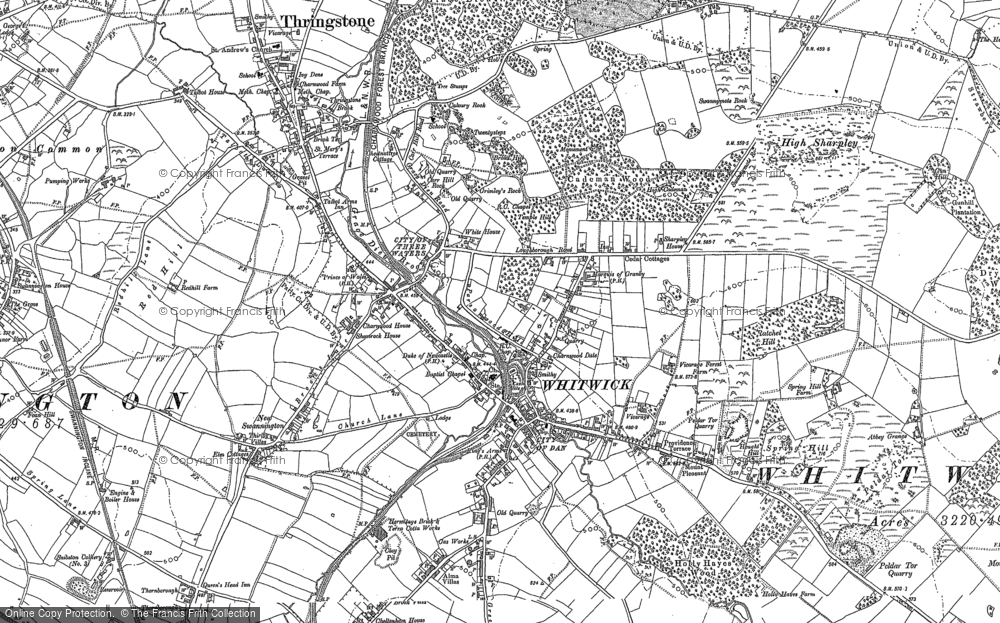 Map of Whitwick, 1882 - 1901