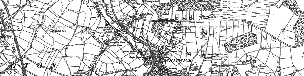 Old map of Whitwick in 1882