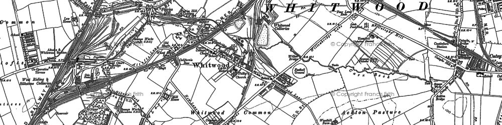 Old map of Whitwood in 1890