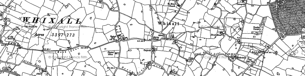 Old map of Whixall in 1880