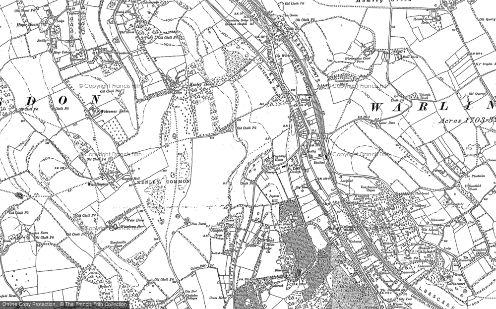 Old Map of Whyteleafe, 1895 in 1895