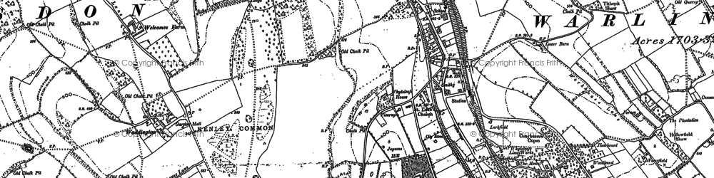 Old map of Whyteleafe South Sta in 1895