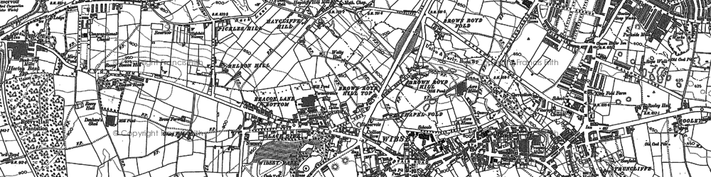 Old map of Wibsey in 1890