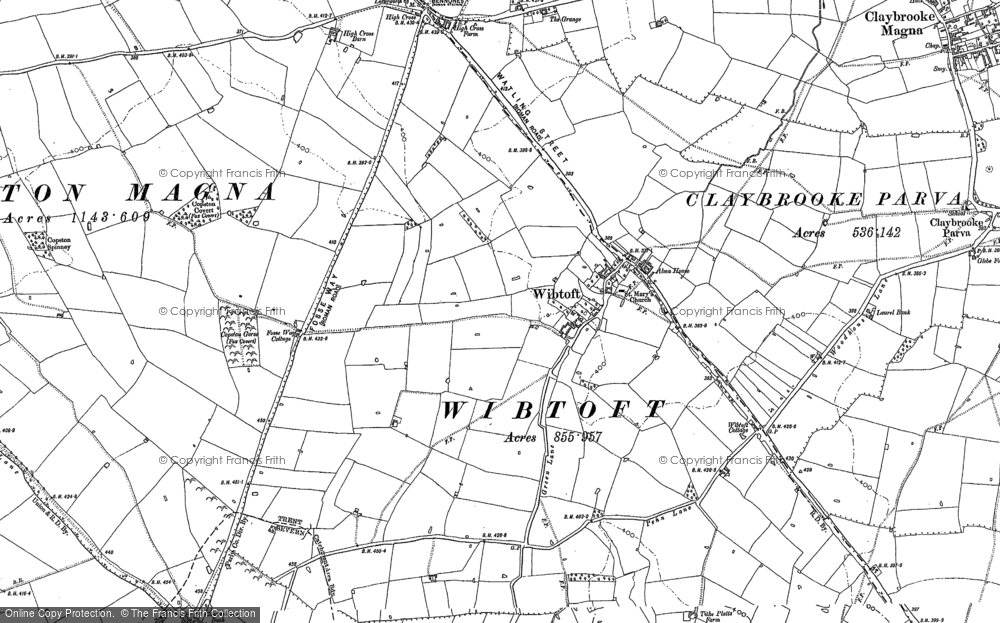 Old Map of Wibtoft, 1902 in 1902