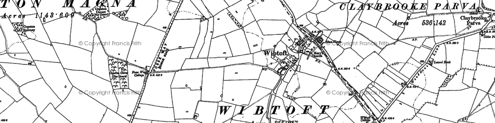 Old map of Wibtoft in 1902
