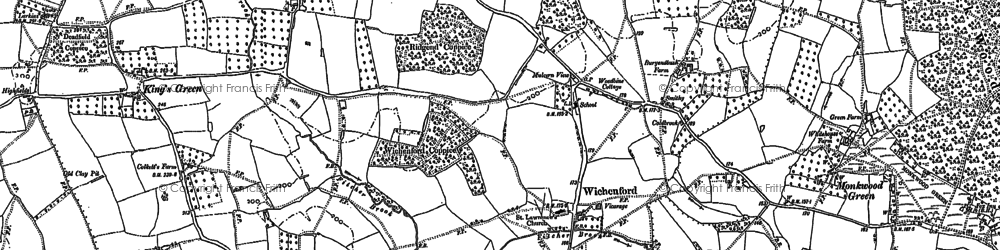 Old map of Wichenford Court in 1883