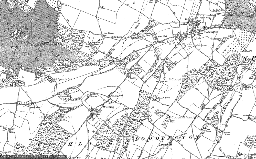 Old Map of Historic Map covering Ashdown Hill in 1896