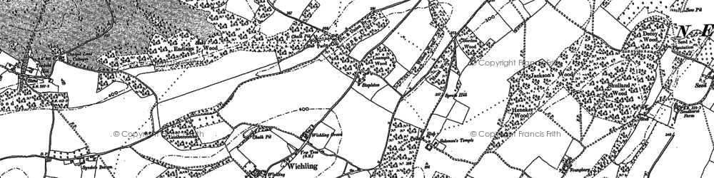 Old map of Wichling in 1896