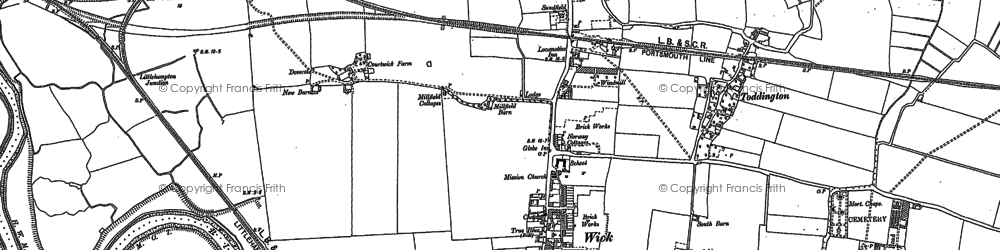 Old map of Wick in 1878