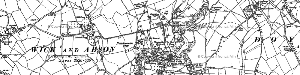 Old map of Wick Rocks in 1881