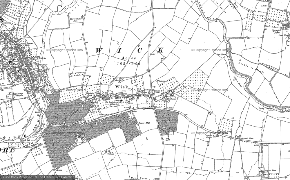 Old Map of Wick, 1884 in 1884
