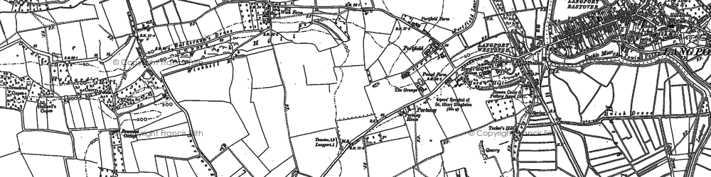 Old map of Wick in 1886