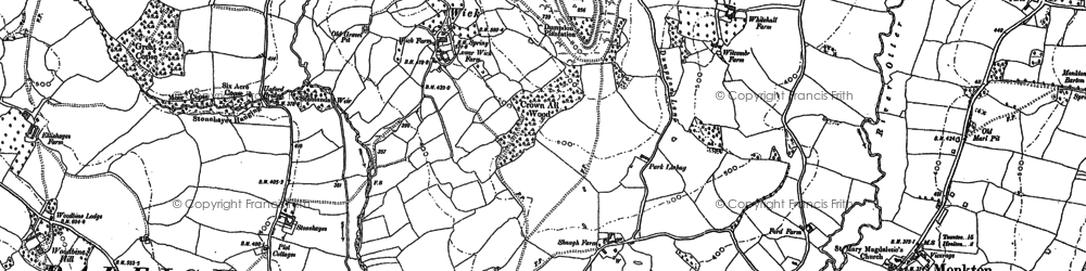 Old map of Wick in 1887
