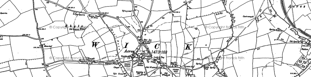 Old map of Wick in 1897