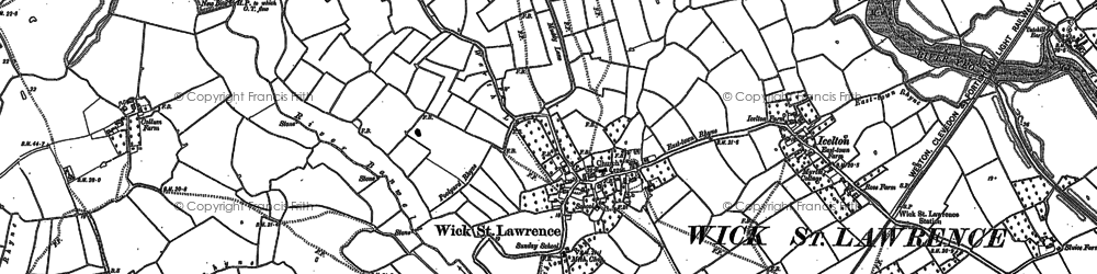 Old map of Wick Warth in 1902