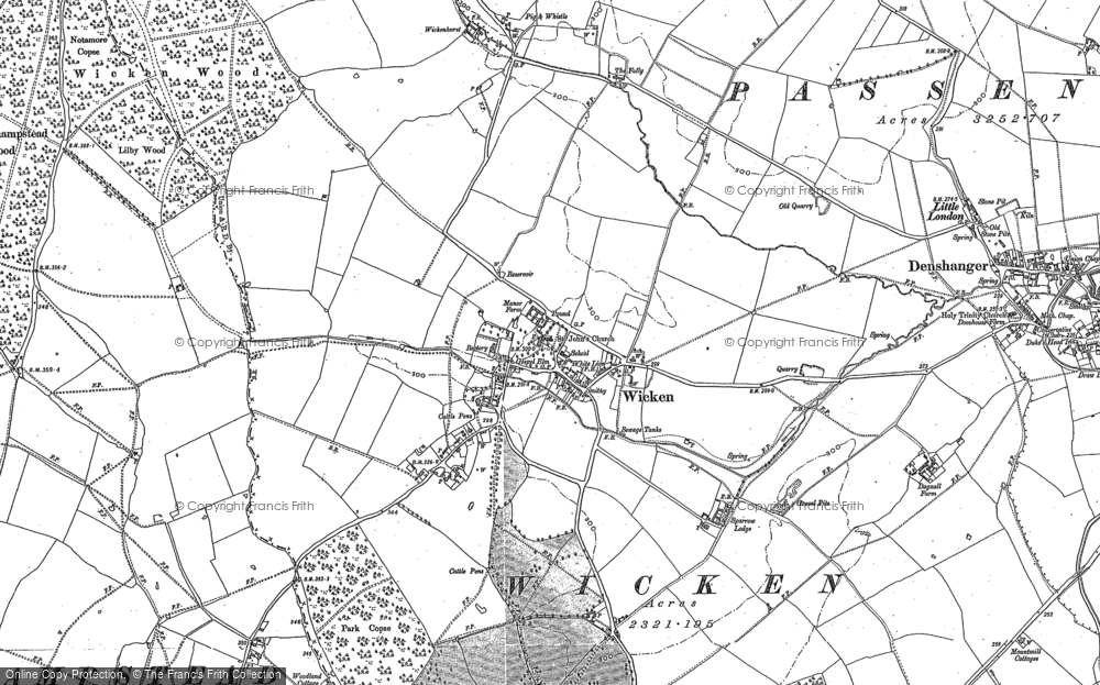 Old Map of Wicken, 1898 - 1899 in 1898