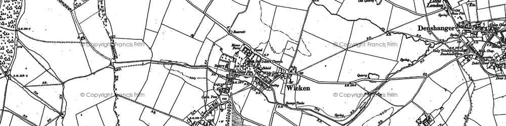 Old map of Wicken Park in 1898