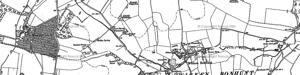 Old map of Wicken Water in 1896