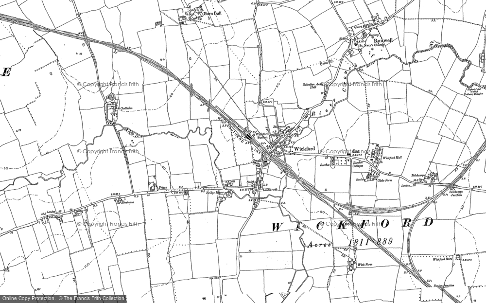 Old Map of Wickford, 1895 in 1895