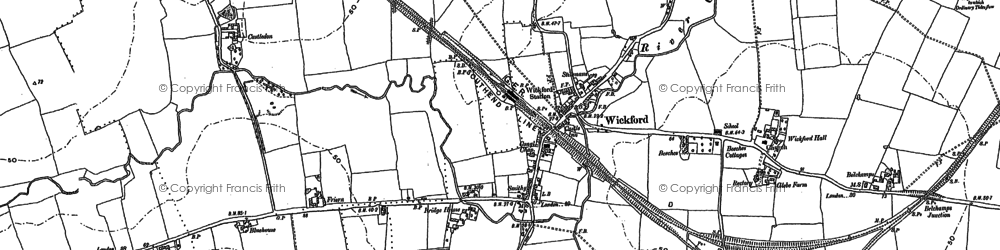Old map of Wickford in 1895