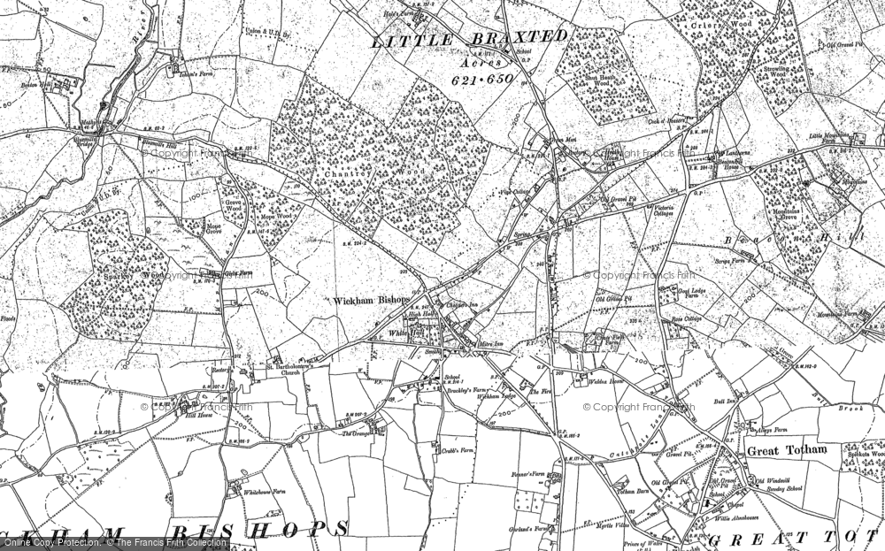 Map of Wickham Bishops, 1895
