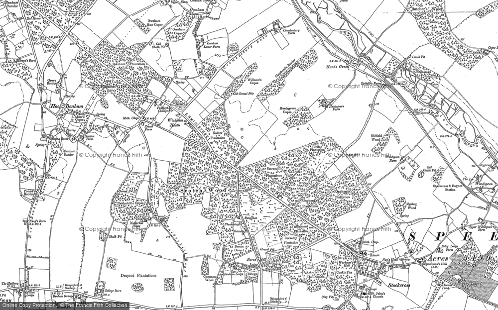 Old Map of Historic Map covering Wormstall in 1898