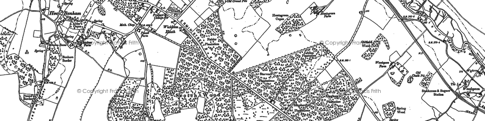 Old map of Wickham in 1898