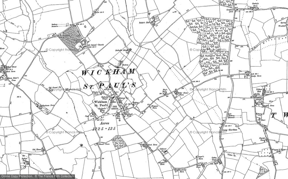 Wickham St Paul, 1896