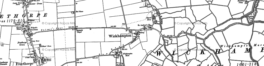 Old map of Wickhampton in 1884