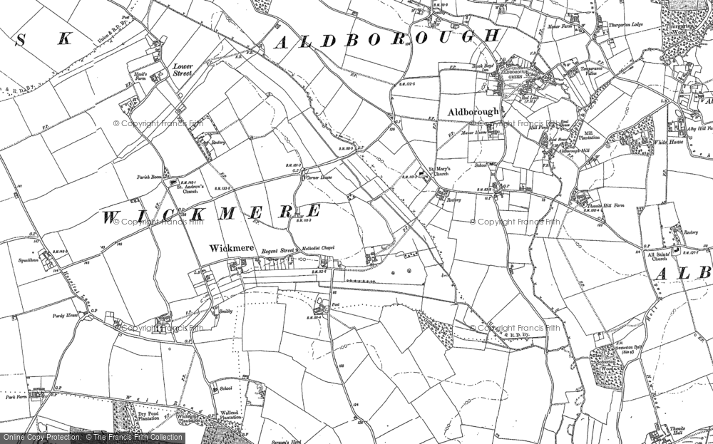 Map of Wickmere, 1885 - 1905