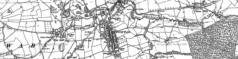 Old map of Wickwar in 1881