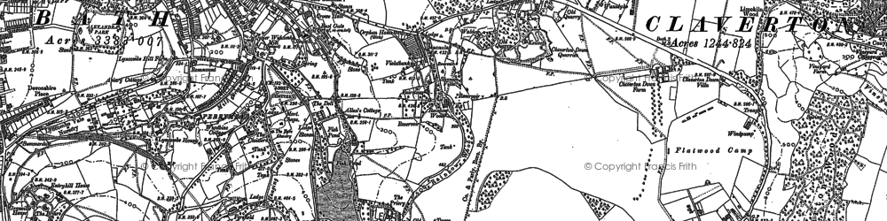 Old map of Widcombe in 1902