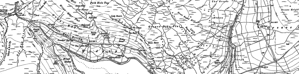 Old map of Alcomden Water in 1905
