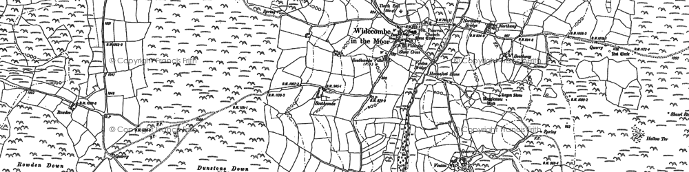Old map of Bagpark in 1885