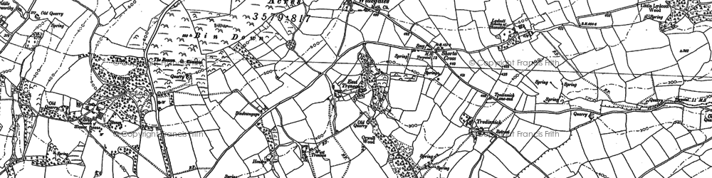 Old map of Widegates in 1881