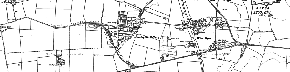 Old map of Wideopen in 1895