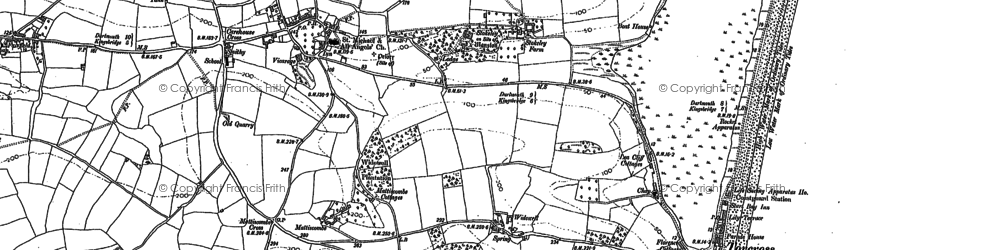 Old map of Widdicombe Ho in 1905