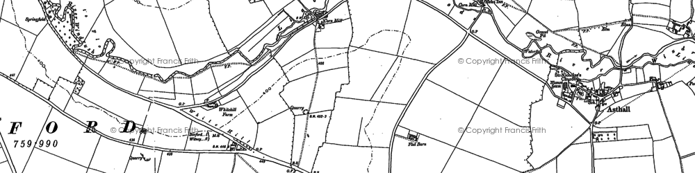 Old map of Westhall Hill in 1889