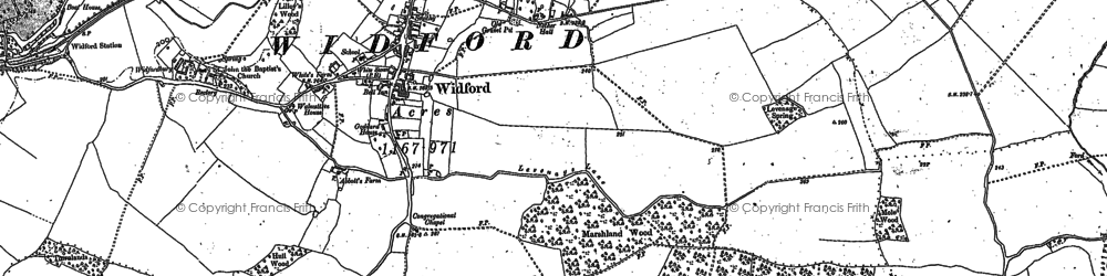 Old map of Nether Street in 1919