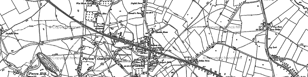 Old map of Widham in 1899