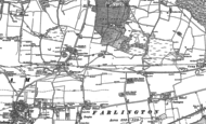 Old Map of Widley, 1895 - 1907
