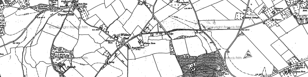 Old map of Widmer End in 1897
