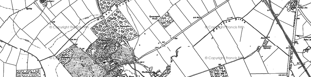 Old map of Widmerpool in 1883