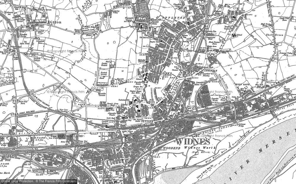 Map of Widnes, 1894 - 1905