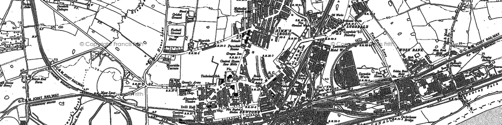 Old map of Widnes in 1894