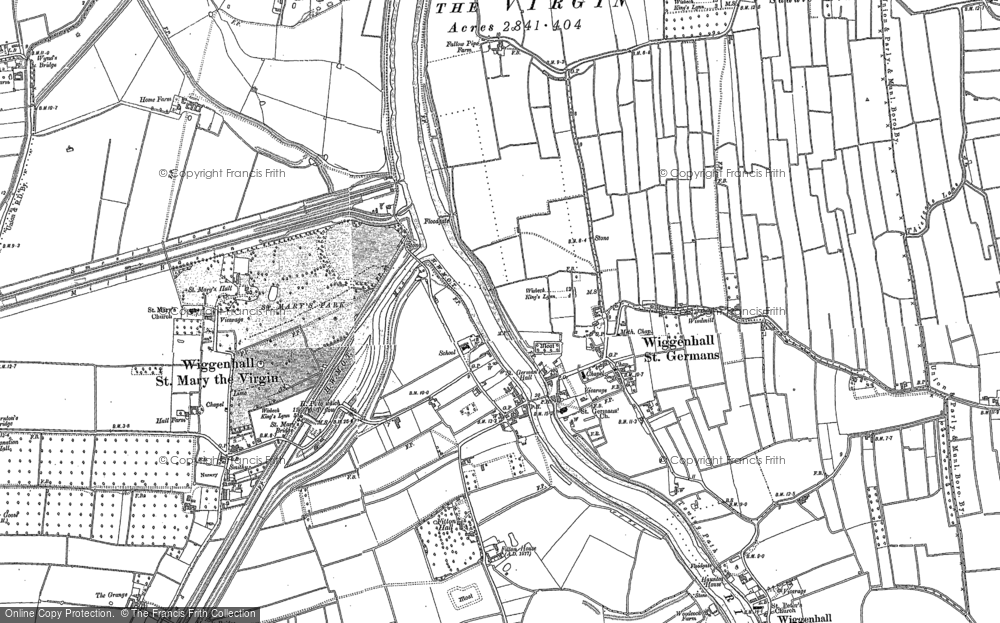 Map of Wiggenhall St Germans, 1884 - 1886